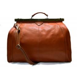 Sac docteur voyage en cuir doctor bag cuir sacoche femme homme miel sac à main en cuir