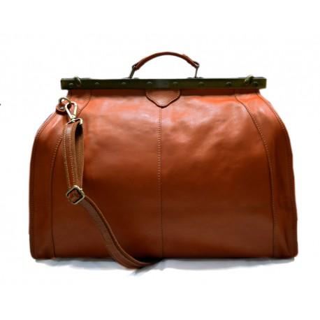 Leather doctor bag mens travel bag womens cabin luggage bag leather shoulder bag medical