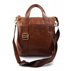 Bandoulière en cuir homme messenger sac d'épaule traverser sac postier brun