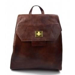 Mochila de cuero marron bolso de hombre piel bolso de mujer piel bolso de viaje