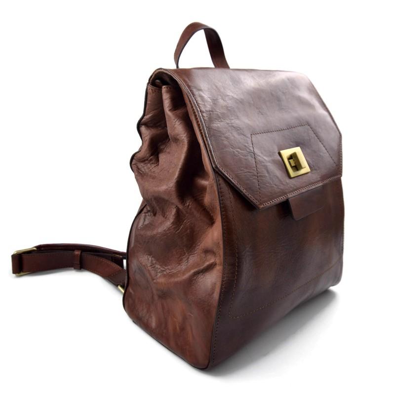 10258868675af ... Leder rucksack kalb leder handtasche schulter menner damen rucksack  braun ...