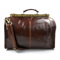 Sac docteur voyage en cuir doctor bag cuir sacoche femme homme brun sac à main en cuir sac femme