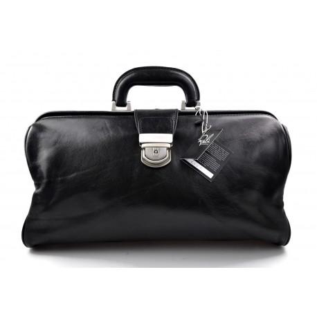 Sac cuir doctor bag docteur homme femme sac messenger en cuir sac cartable noir