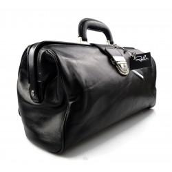 Ladies leather handbag doctor bag handheld shoulder bag made in Italy genuine leather bag