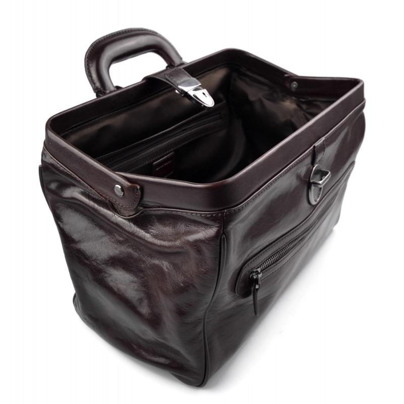e633121b595f Leather doctor bag medical bag handbag ladies leather bag dark brown