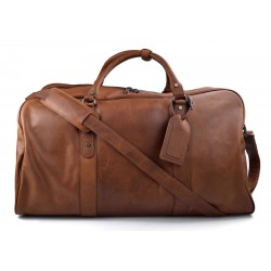 Travel bag leather travel duffle bag XXL big leather brown carry on hand held travel shoulder bag leather gym bag duffel