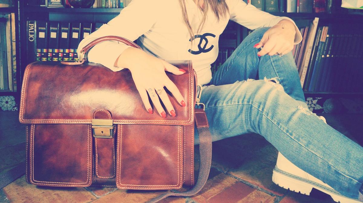 sacs cartables en cuir