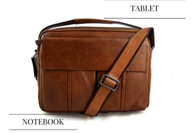 Leather tablet notebook bags